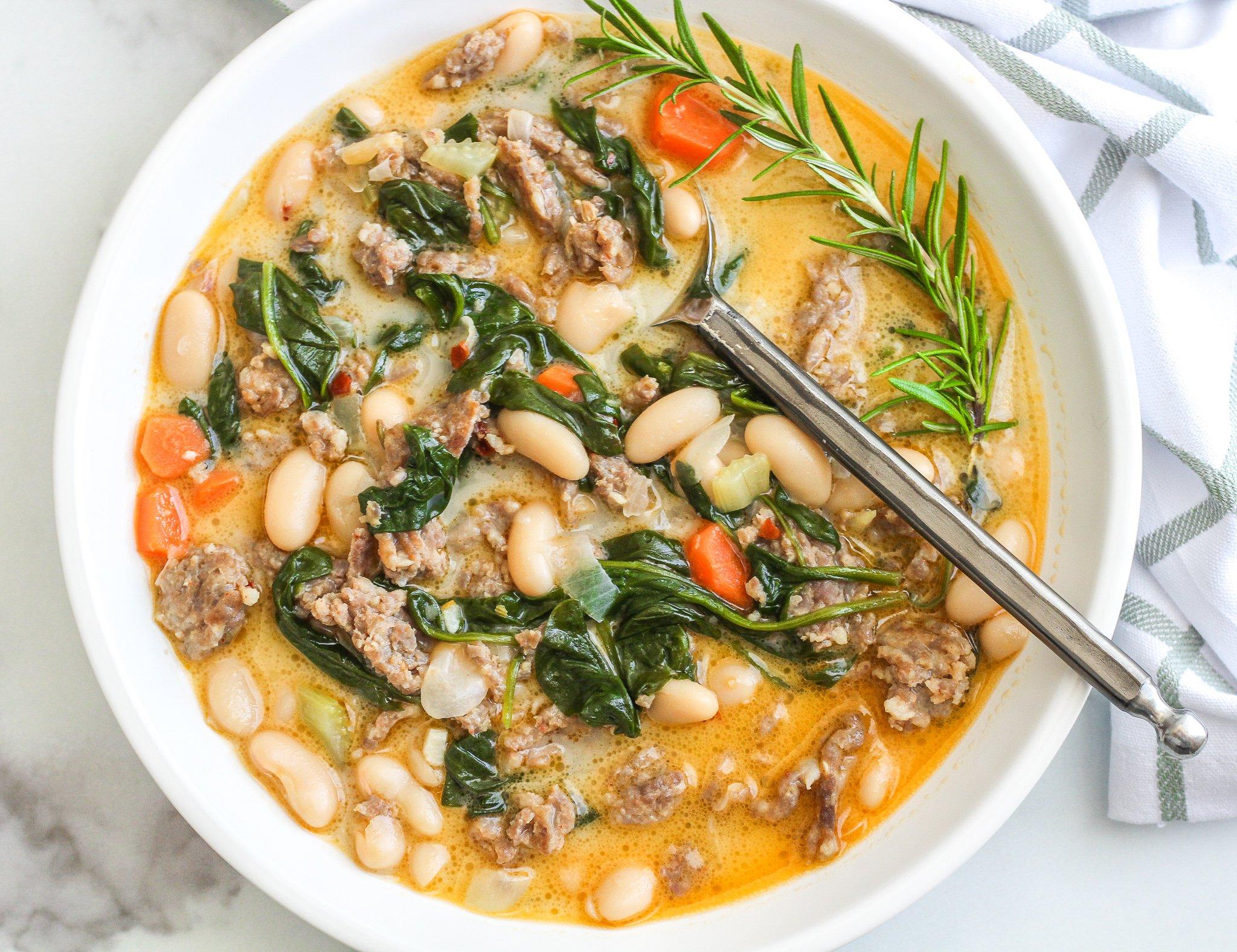 Italian White Bean Soup Gluten Dairy Free